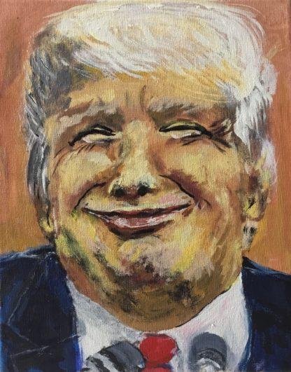 Portræt af kendt person er titlen på maleri af Trump fra det amerikanske valg. 2016