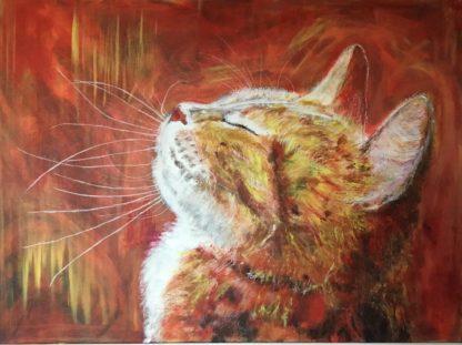 Mindfulness kat er titlen på maleri