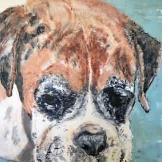 Stort maleri af hunden Barnham fra Australien