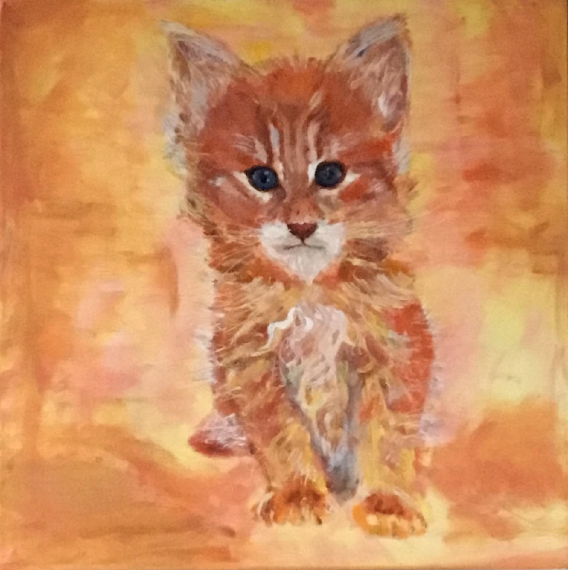 Aslan - maleri af elsket kat