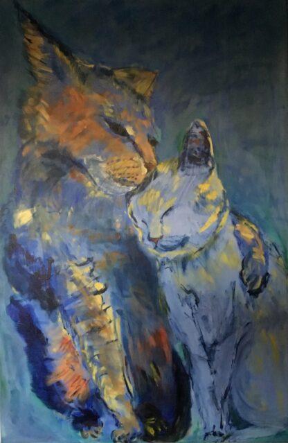 Masleriet er to katte der elsker hinanden
